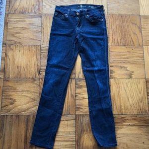 Slim cigarette dark wash 7 jeans